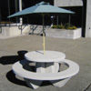Woodards Concrete Round Picnic Table
